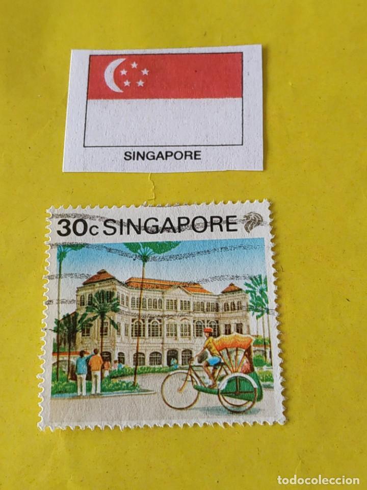 SINGAPUR - 1 SELLO CIRCULADO (Sellos - Extranjero - Asia - Singapur)