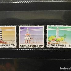 Sellos: SINGAPUR. YVERT 395/397. FAROS DE SINGAPUR.. Lote 203377967