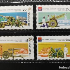 Sellos: SINGAPUR. YVERT 528A/D. MILITAR. CENTENARIO DE LA ARTILLERÍA DE SINGAPUR 1888-1988. Lote 203378091