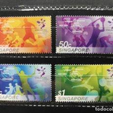 Sellos: SINGAPUR. YVERT 1305/1308. DEPORTES. OLIMPIADAS. SINGAPUR '05.. Lote 203378447