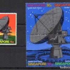 Sellos: SINGAPUR 1971 - TELECOMUNICACIONES - YVERT 138/142**. Lote 204184831