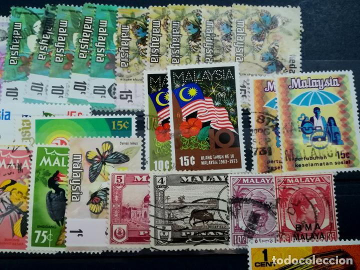 Sellos: LOTE SELLOS USADOS Malasia y Singapur - Foto 3 - 205438471