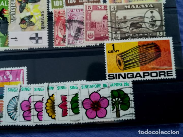 Sellos: LOTE SELLOS USADOS Malasia y Singapur - Foto 6 - 205438471