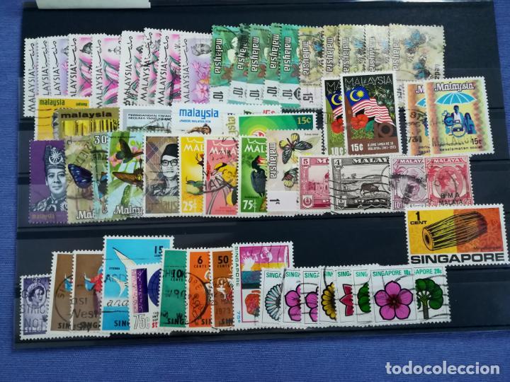 LOTE SELLOS USADOS MALASIA Y SINGAPUR (Sellos - Extranjero - Asia - Singapur)
