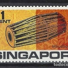 Timbres: SINGAPUR 1969 - INSTRUMENTOS MUSICALES - SELLO NUEVO C/F*. Lote 207704343