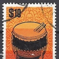 Sellos: SINGAPUR 1969 - INSTRUMENTOS MUSICALES - SELLO USADO. Lote 207704610