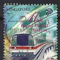 Sellos: SINGAPUR 1997 - TRANSPORTES, TREN RÁPIDO - SELLO USADO. Lote 207710313