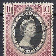 Timbres: SINGAPUR 1953 - CORONACIÓN DE LA REINA ISABEL II - USADO. Lote 213970055