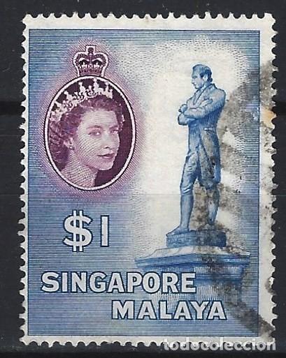 SINGAPUR 1955 - ISABEL II Y OTRAS IMAGENES - USADO (Sellos - Extranjero - Asia - Singapur)