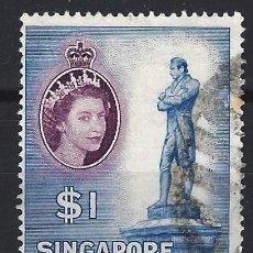 Timbres: SINGAPUR 1955 - ISABEL II Y OTRAS IMAGENES - USADO. Lote 213970313