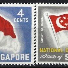 Sellos: SINGAPUR 1960 - DÍA NACIONAL, S.COMPLETA - MNH**. Lote 213970851