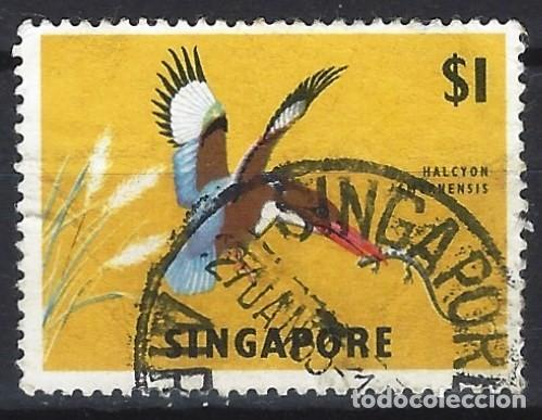 SINGAPUR 1962 - FAUNA, AVES, HALCYON SMYRNENSIS - USADO (Sellos - Extranjero - Asia - Singapur)