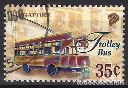 SINGAPUR 1997 - TRANSPORTES, TROLEBÚS - USADO (Sellos - Extranjero - Asia - Singapur)