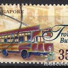 Timbres: SINGAPUR 1997 - TRANSPORTES, TROLEBÚS - USADO. Lote 213972951