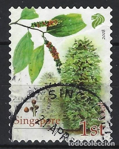 SINGAPUR 2008 - CULTIVOS COMERCIALES, PIMIENTA - USADO (Sellos - Extranjero - Asia - Singapur)