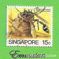Sellos: SINGAPUR - MICHEL 465I - YVERT 457 - INSECTOS - DELTA ARCUATA. (1985).. Lote 216955952