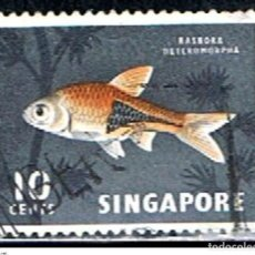 Sellos: SINGAPOR // YVERT 57 // 1962-68 ... USADO .. FAUNA. Lote 217269887