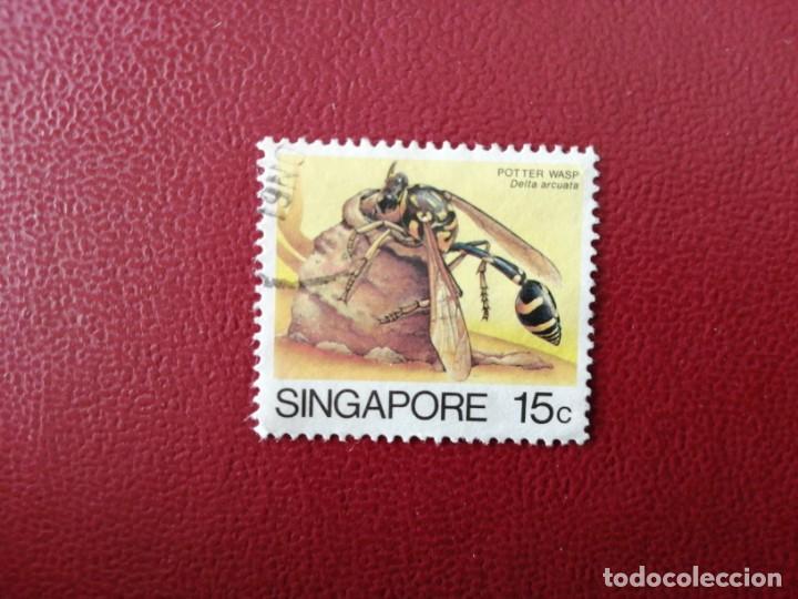 SINGAPUR - VALOR FACIAL 15 C - AÑO 1985 - FAUNA - INSECTOS - DELTA ARCUATA - YV 457 (Sellos - Extranjero - Asia - Singapur)