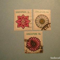 Sellos: SINGAPUR - FLORES.. Lote 224230321