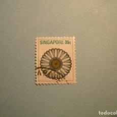 Sellos: SINGAPUR - FLORES.. Lote 224230362