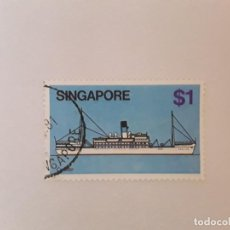 Sellos: SINGAPUR SELLO USADO. Lote 237111020