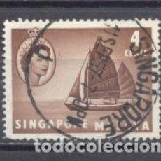 Sellos: SINGAPUR, 1955, USADOS. Lote 239362340
