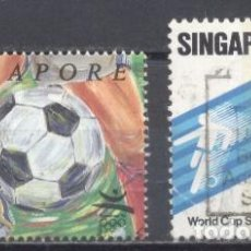 Sellos: SINGAPUR, FOOTBOL, USADOS. Lote 239366835