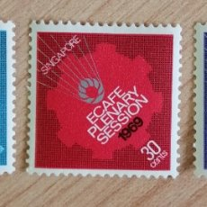 Sellos: SINGAPUR. 1969. YVERT 92/94. XXV SESIÓN PLENARIA DE LAS NACIONES UNIDAS PARA LA COMISIÓN ECONÓMICA D. Lote 244512485