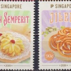 Sellos: ⚡ DISCOUNT SINGAPORE 2019 GASTRONOMY - TRADITIONAL CONFECTIONS MNH - FOOD. Lote 251563340