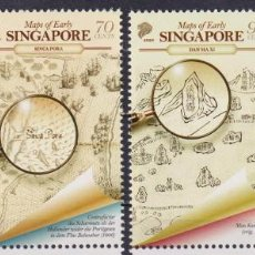 Sellos: ⚡ DISCOUNT SINGAPORE 2020 EARLY SINGAPORE MAPS MNH - CARDS. Lote 251563555
