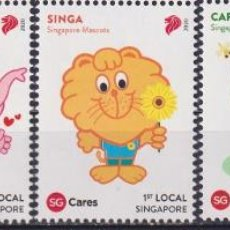 Sellos: ⚡ DISCOUNT SINGAPORE 2020 SINGAPORE MASCOTS MNH - TOYS. Lote 251563590