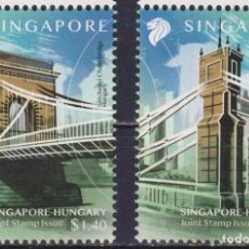 Sellos: ⚡ DISCOUNT SINGAPORE 2020 BRIDGES - JOINT ISSUE WITH HUNGARY MNH - BRIDGES. Lote 251563685