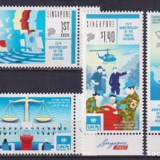 Sellos: ⚡ DISCOUNT SINGAPORE 2020 THE 75TH ANNIVERSARY OF THE UNO MNH - FLOWERS, FLAGS, UN. Lote 251563695