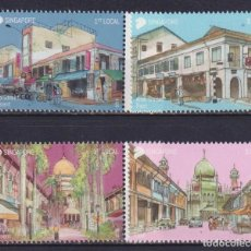 Sellos: ⚡ DISCOUNT SINGAPORE 2018 AREAS OF HISTORICAL SIGNIFICANCE MNH - ARCHITECTURE. Lote 255633870