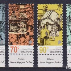 Sellos: ⚡ DISCOUNT SINGAPORE 2019 EARLY FORMS OF STREET STORY TELLING IN SINGAPORE MNH -. Lote 255656880