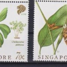 Sellos: ⚡ DISCOUNT SINGAPORE 2018 PLANTS - NATIVE GINGERS MNH - FLORA. Lote 260511920