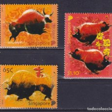 Sellos: ⚡ DISCOUNT SINGAPORE 2009 CHINESE NEW YEAR - YEAR OF THE OX MNH -. Lote 260531810