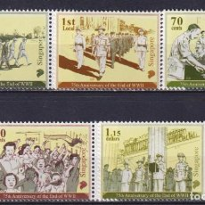 Sellos: ⚡ DISCOUNT SINGAPORE 2020 THE 75TH ANNIVERSARY OF THE END OF WORLD WAR II MNH - WARS, THE SE. Lote 260543245