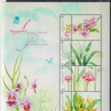 Sellos: ⚡ DISCOUNT SINGAPORE 2020 FLOWERS OF SINGAPORE - PERSONALIZED STAMPS MNH - FLOWERS. Lote 260556960