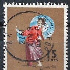 Selos: SINGAPUR 1968 - FOLKLORE, DANZA TARI PAYONG - USADO. Lote 270225948