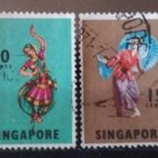 Sellos: LOTE 6 SELLOS SINGAPUR (MATASELLADOS). Lote 278682303