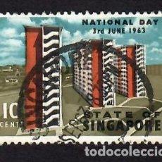 Selos: SINGAPUR (1963). 4º ANIVERSARIO DE LA AUTONOMÍA. YVERT Nº 68. USADO.. Lote 285489893