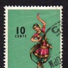 Selos: SINGAPUR (1968). FOLKLORE: BAHARATHA NATYAM. YVERT Nº 84. USADO.. Lote 285490318