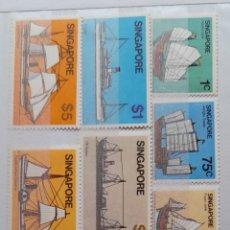 Sellos: BARCOS SINGAPUR 1980** NUEVOS. Lote 287561683
