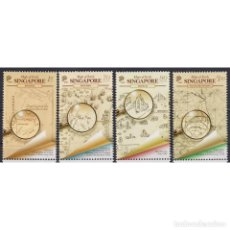 Sellos: ⚡ DISCOUNT SINGAPORE 2020 EARLY SINGAPORE MAPS MNH - CARDS. Lote 295963618