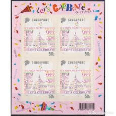 Sellos: ⚡ DISCOUNT SINGAPORE 2014 GREETINGS STAMPS - LET'S CELEBRATE MNH - WINE. Lote 295970818