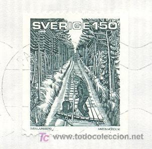Sellos: Suecia. Sobre circulado con el sello de Par Lagerkvist sobre una vagoneta el 6-8-1984 (ver detalle) - Foto 2 - 5219775