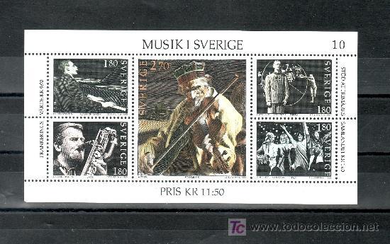 SUECIA HB 11 SIN CHARNELA, MUSICA EN SUECIA, (Sellos - Extranjero - Europa - Suecia)