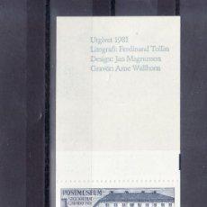 Sellos: SUECIA CARNET DE MUESTRAS CON 10 VIÑETAS 1981, MUSEO POSTAL, GRABADOR ARNE WALLHORN,. Lote 17205998