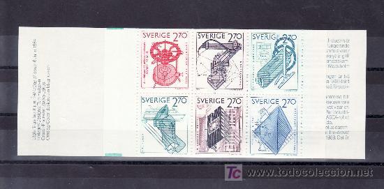 SUECIA 1264C CARNET, EXPORTACIONES SUECAS, (Sellos - Extranjero - Europa - Suecia)